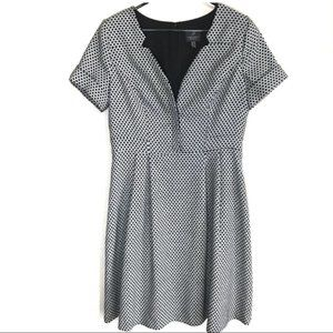 Adrianna Papell 12 A Line Dress Patterned Dots